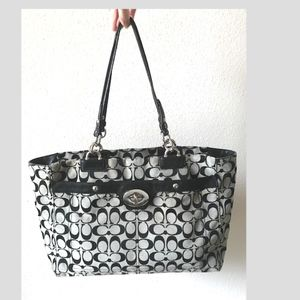 Coach  Penelope black & grey large  tote